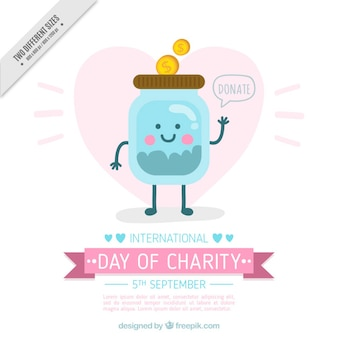 Donation in the international day of charity