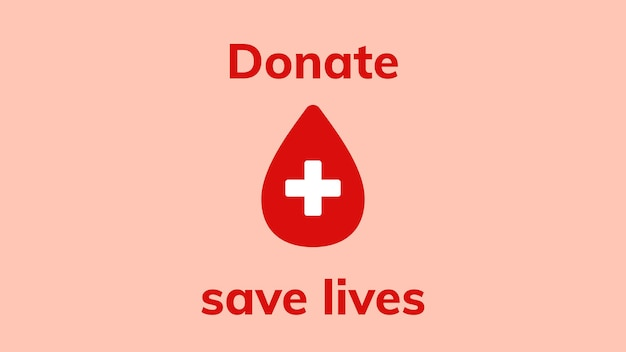 Donation save lives template vector health charity ad banner