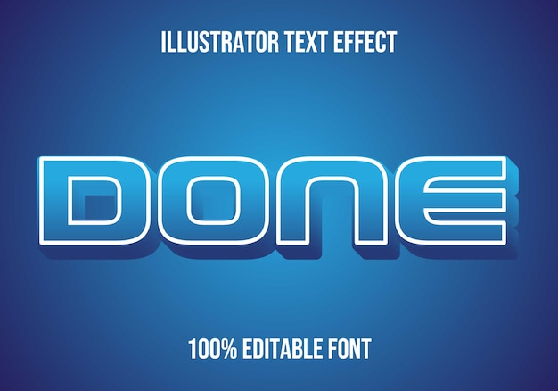 Done editable text effect