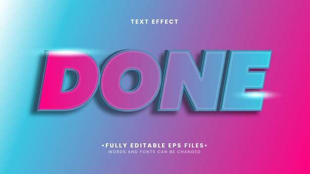 Done gradient text effect