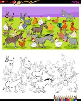 Цветные книги с символами ослов и цыплят