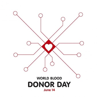 Donor day background with lines and heart in the center
