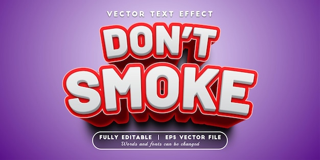 Dont smoke text effect with editable text style