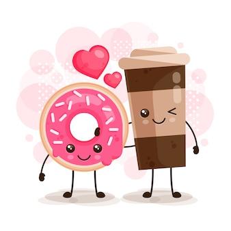 ドーナツとコーヒーのキャラクター