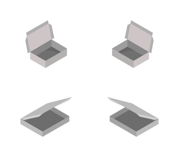 Donut box isometric set