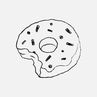 Donut design element cute bakery vector illustration