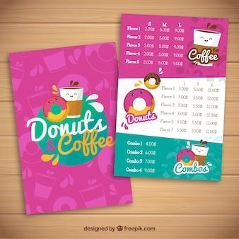 Donut food truck menu template