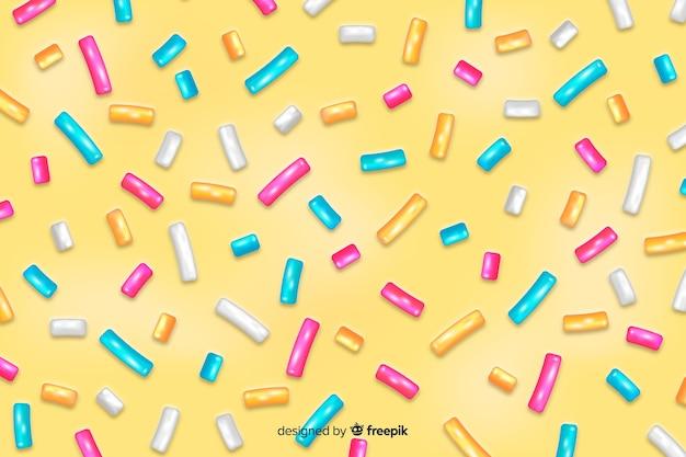 フラットなデザインのドーナツgl薬の背景