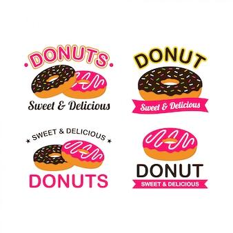 도넛 로고 디자인 벡터