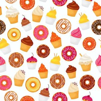 Donut seamless pattern