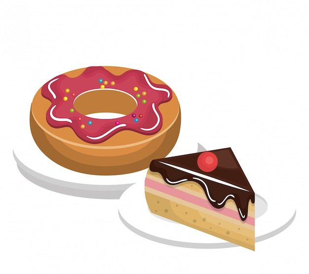 Donut sweet dessert isolated
