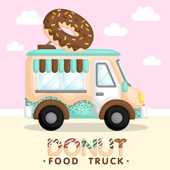 Donut truck blue