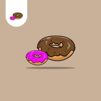 도넛 벡터 디자인 웹 패턴 디자인 아이콘 ui ux 등을 위한 완벽한 사용
