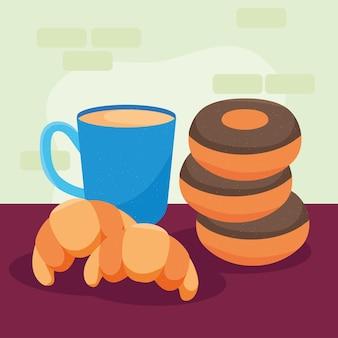 도넛과 크루아상