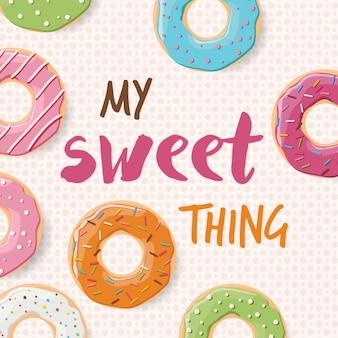 Background design donuts