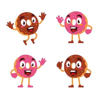 Donuts персонаж талисмана мультфильма