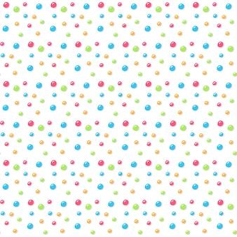 白で隔離ドーナツ釉薬シームレスパターン