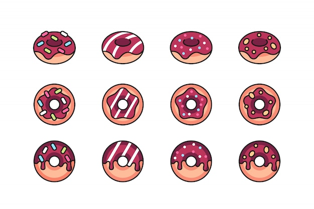 Donuts icon set