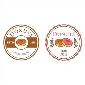 Rero 스타일의 도넛 로고 컬렉션