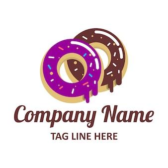 도넛 로고 디자인