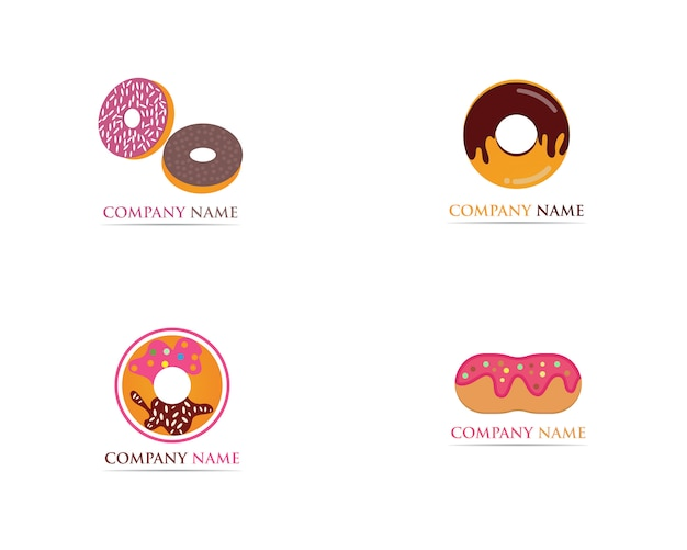 Donuts logo template illustration