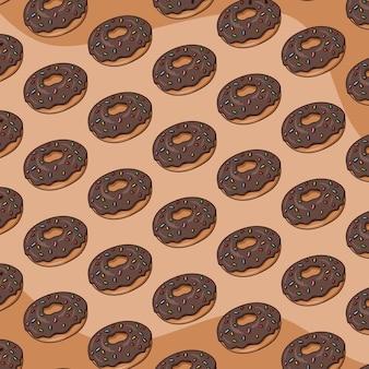 Пончики узор фона вектор