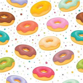 Donuts pattern background