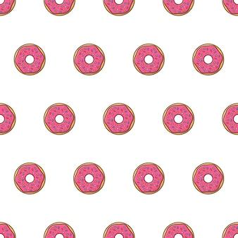 Пончики бесшовный образец