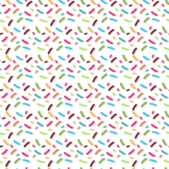 Пончики посыпать бесшовный фон, изолированные на белом фоне