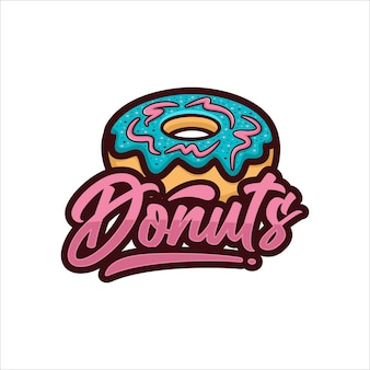 Donuts vector design logo