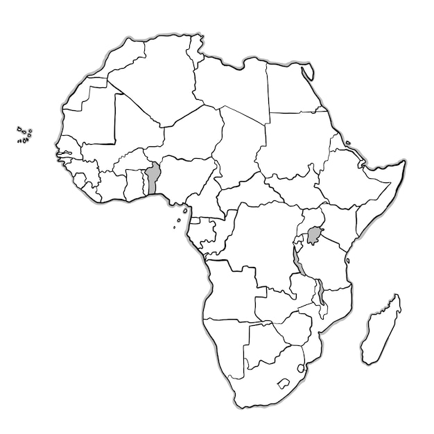 High Quality Doodle Africa Map