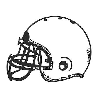 Doodle american football helmet