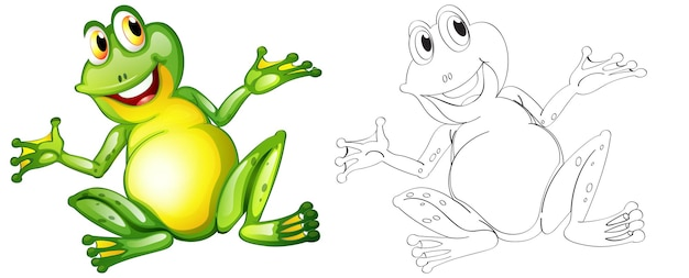 Doodle animal character for frog