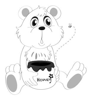 小さなクマのための落書き動物