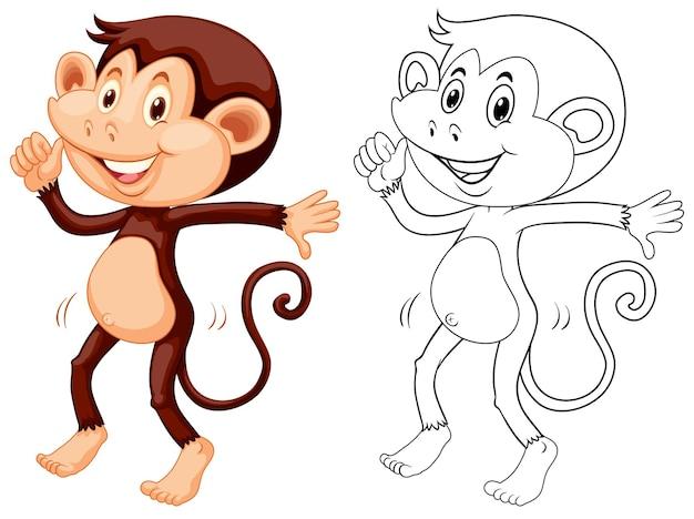 Doodle animale per la danza delle scimmie
