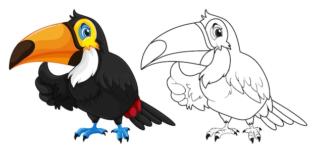 Doodle animale per l'uccello tucano