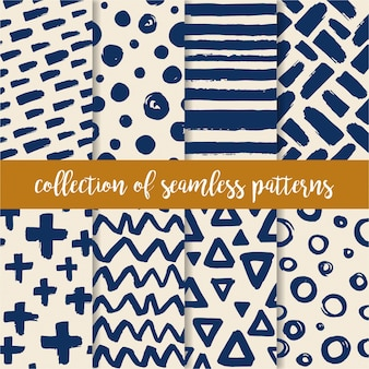 Doodle artistic hand drawn textures collection