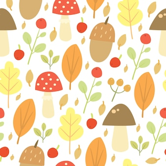 Doodle pattern autunnale