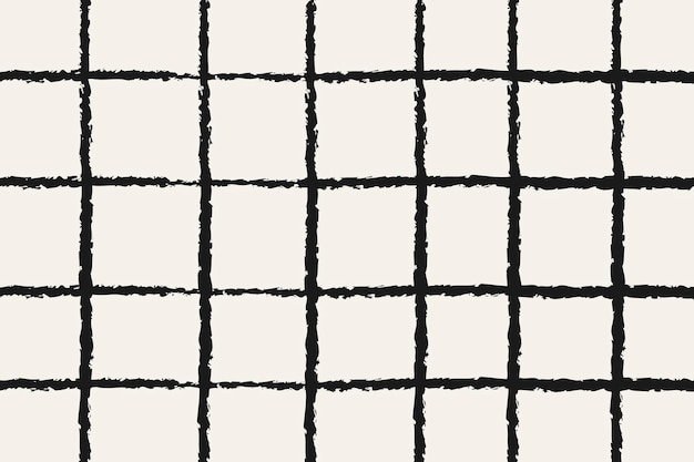 落書きの背景、黒のグリッドパターンデザインベクトル