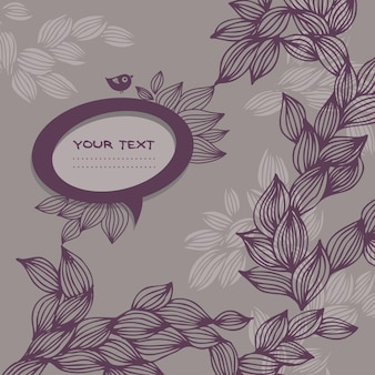 Doodle background with speech bubble frame