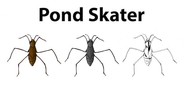 池スケーターのためのdoodleキャラクター