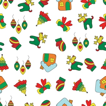 Doodleクリスマスパターン