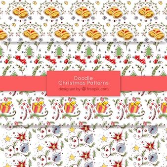 Рождественские узоры doodle