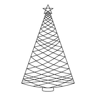 クリスマスツリーを落書き。