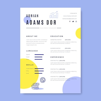 Doodle colorful business resumes