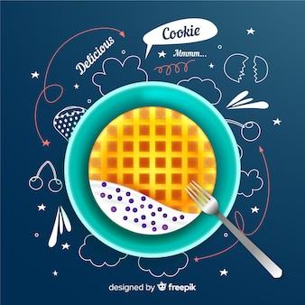 Doodleを使用したリアルなcookie広告