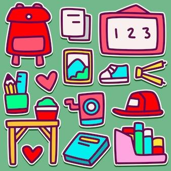 Doodle design back to school illustration