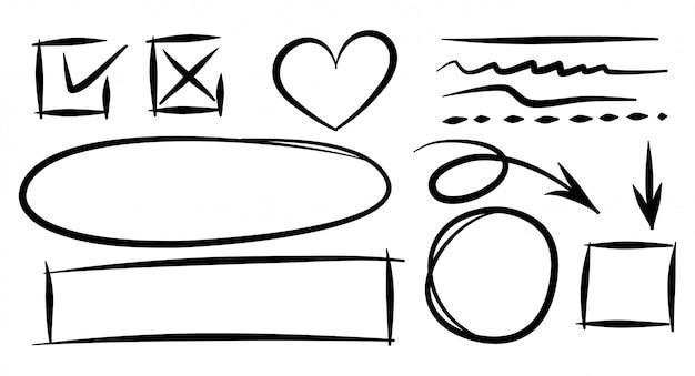 Элемент дизайна каракули.