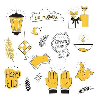 Doodle eid mubarak collection с уникальным стилем