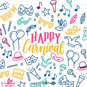 Doodle elements carnival background